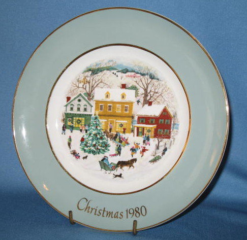 Avon Christmas Plate Series by Enoch Wedgwood 1980