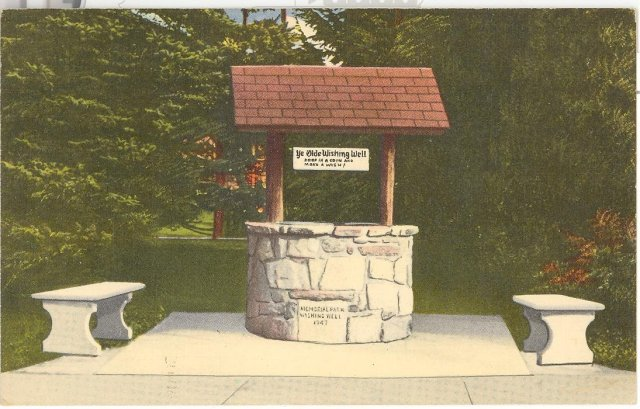 Quakertown Community Wishing Well, Quakertown, PA color postcard