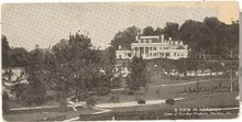 A View in Hershey , Home of Hershey Products, Hershey,  PA black and white postcard
