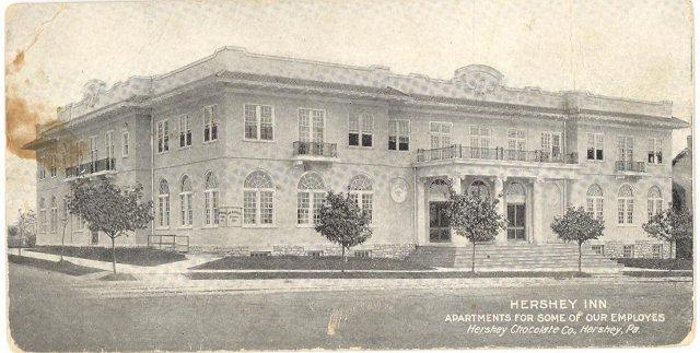 Hershey Inn ,  Hershey Chocolate Co., Hershey,  PA black and white postcard