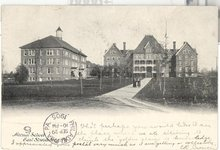 Normal School, East Stroudsburg, PA black and white postcard