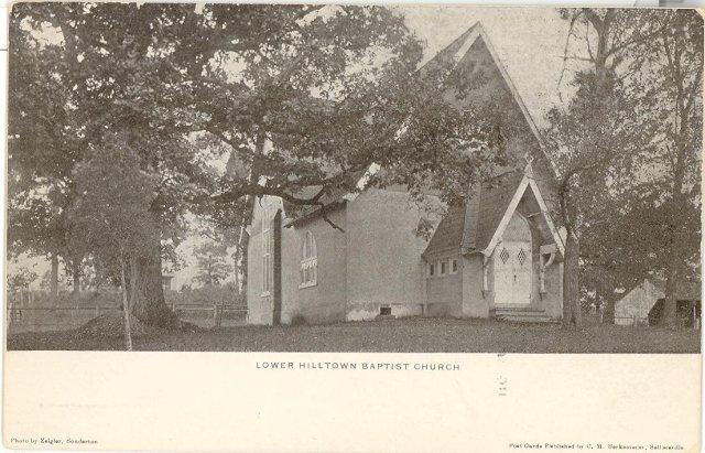 Lower Hilltown Baptist Church, Hilltown,  PA black and white  postcard