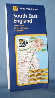 AA Road Map Britain South East England road map