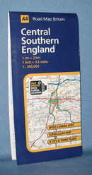 AA Road Map Britain Central Southern England road map