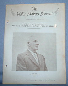 The Violin Makers Journal March 1963