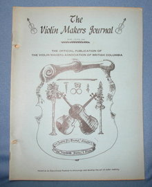 The Violin Makers Journal May-June 1964