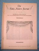 The Violin Makers Journal July-August 1964