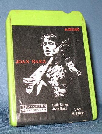 Joan Baez: Folk Songs stereo eight track tape
