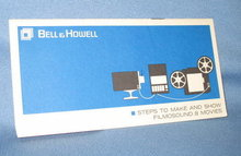 Bell & Howell Steps to Make and Show Filmosound 8 Movies brochure