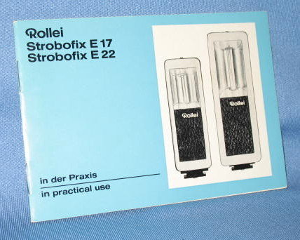 Rollei Strobofix E17, E22 instruction booklet