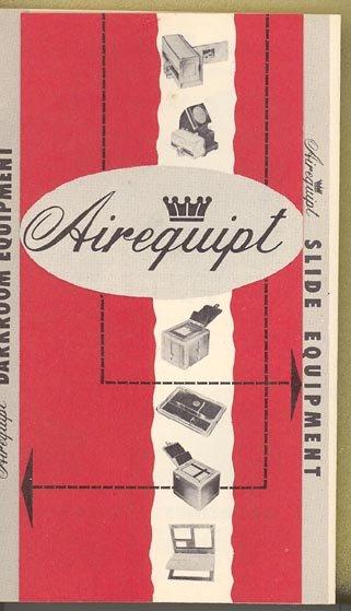 Airequipt Darkroom and Slide Equipment brochure