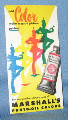 Add Color Make a Good Picture Perfect from Marshall's Photo-Oil Colors