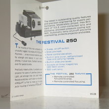 Airequipt Festival 250 slide projector product tag