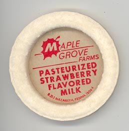 Maple Grove Farms, Nazareth PA Strawberry Flavored milk bottle cap