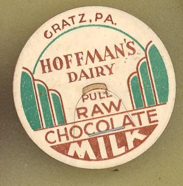 Hoffman's Dairy, Gratz PA raw  chocolate milk bottle cap