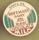 Hoffman's Dairy, Gratz PA raw  chocolate milk bottle cap