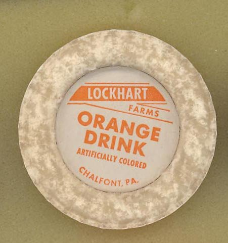 Lockhart Farms, Chalfont PA orange drink bottle cap