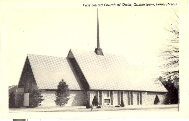 First United Church of  Church, Quakertown Pennsylvania photo postcard