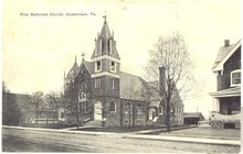 First Reformed Church, Quakertown Pennsylvania  postcard