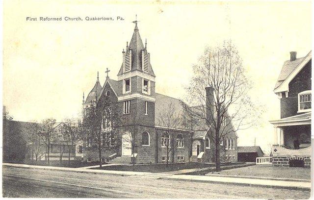 First Reformed Church, Quakertown Pennsylvania  postcard