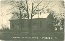 Friends' Meeting House, Quakertown Pennsylvania  postcard