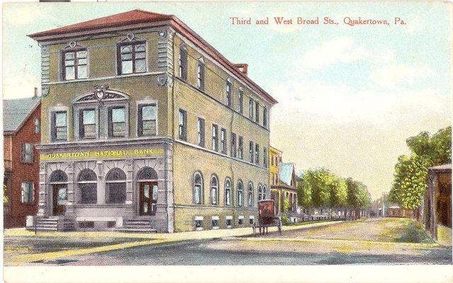 Quakertown National Bank, Quakertown Pennsylvania  postcard