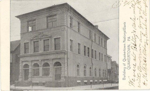 Quakertown National Bank, Quakertown Pennsylvania  postcard