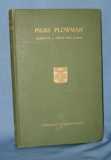 Piers Plowman by Dorothy L. Owen