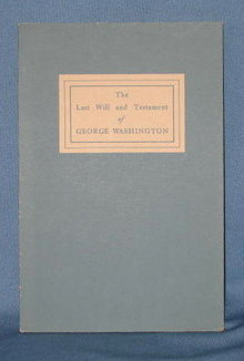 The Last Will and Testament of George Washington, 4th edition