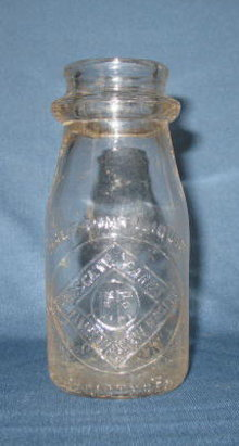 Forsgate Farms, Jamesburg NJ embossed half pint milk bottle