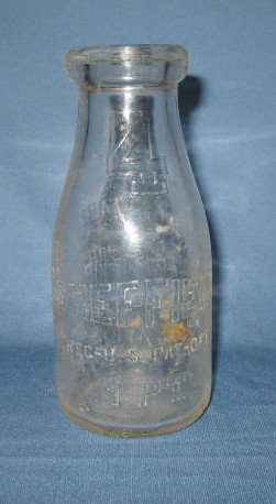 Sheffield Farms Co.  NY embossed  pint milk bottle