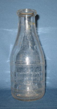 Sheffield Store Bottle embossed  quart milk bottle