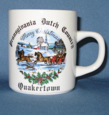 Quakertown PA Pennsylvania Dutch Country Merry Christmas ceramic mug