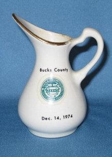 Bucks County Dec. 14, 1974 creamer