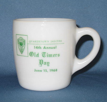 Quakertown Jaycess 14th Annual Old Timers Day mug, June 15, 1968