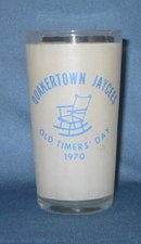 Quakertown Jaycess Old Timers Day tumbler, 1970