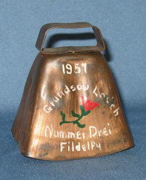 1957 Grundsow Lodge Nummer Drei cow bell