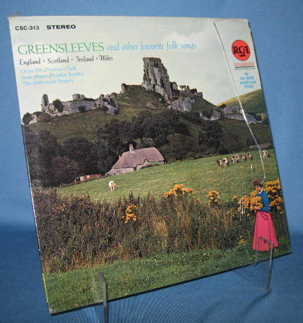 Greensleeves and other Favorite Folk Favorites featuring the Ambrosian Singers  33 RPM LP record