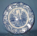 Staffordshire Liberty Blue dinner plate