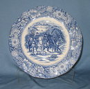Staffordshire Liberty Blue luncheon plate