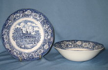 Staffordshire Liberty Blue cereal bowl