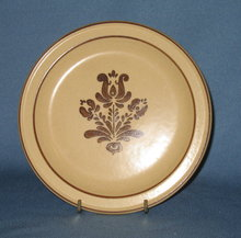 Pfaltzgraff Village brown salad plate