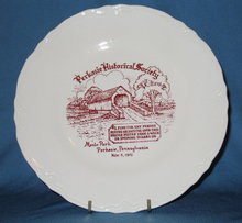 Perkasie (PA) Historical Society plate, Menlo Park, Nov. 5, 1972