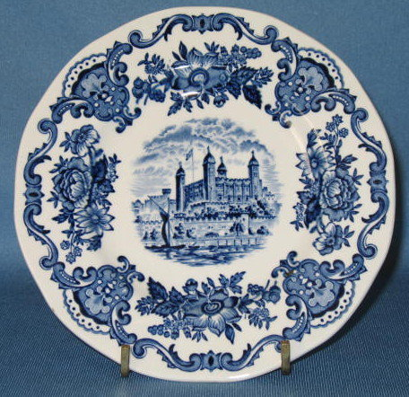 Enoch Wedgwood (Tunstall) Ltd. Royal Homes of Britain bread plate