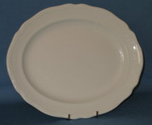 J & G Meakin Heirloom white ironstone oval platter