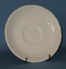 J & G Meakin Heirloom white ironstone saucer
