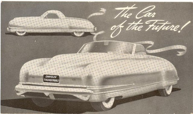 Chrysler Thunderbolt: The Car of the Future postcard