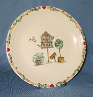 Thomson Pottery Birdhouse salad plate