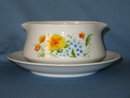 Imperial China Just Spring gravy boat with attached underplate