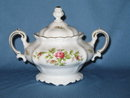 Johann Haviland, Bavaria Germany Moss Rose covered sugar bowl